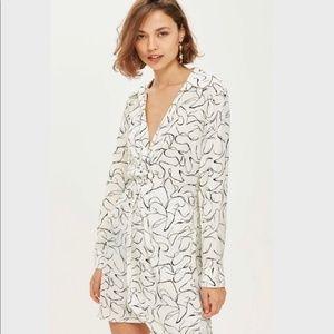 TOPSHOP Obsession Twist Midi Dress US size 6
